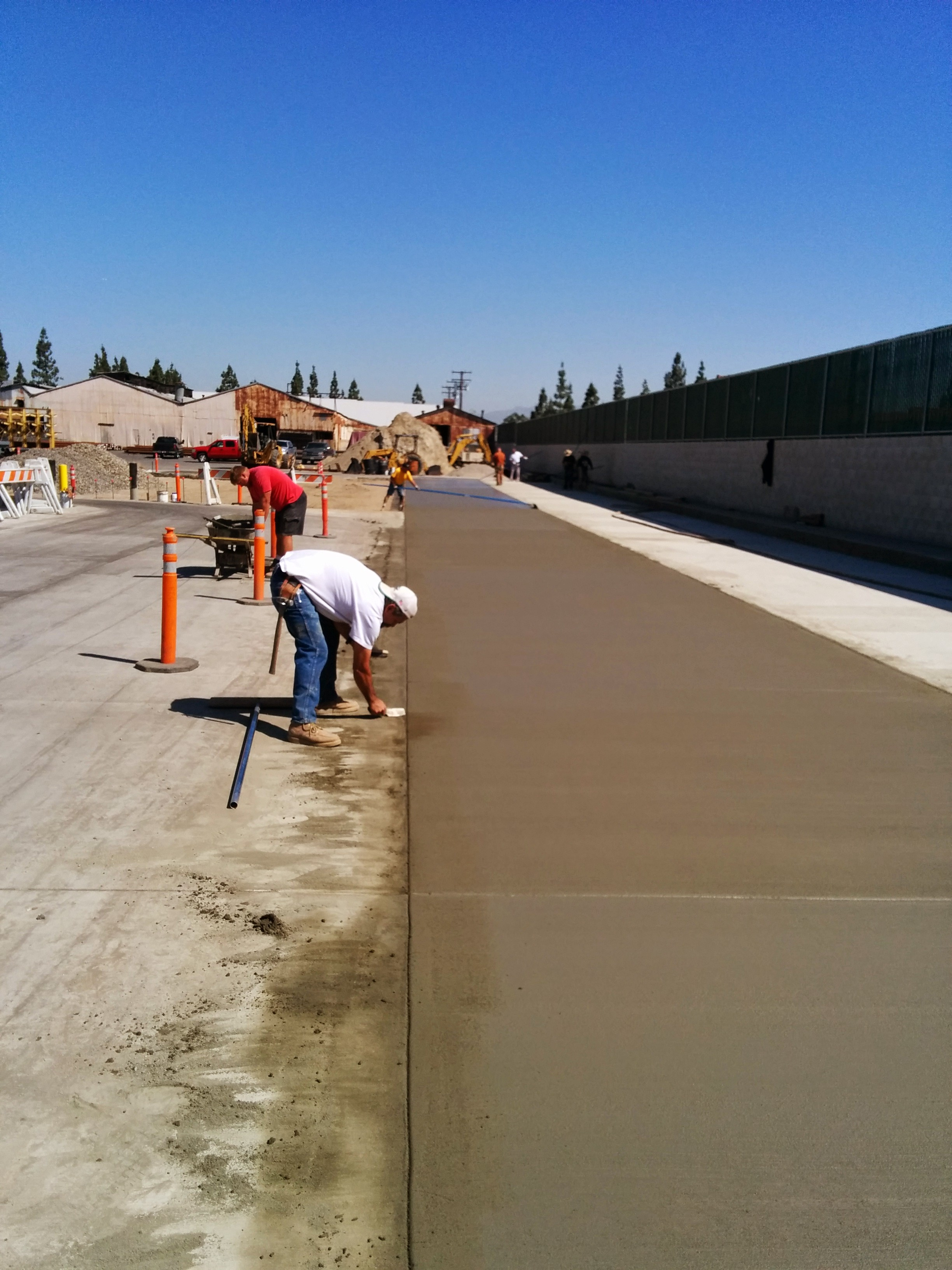 Placement and finishing of concrete