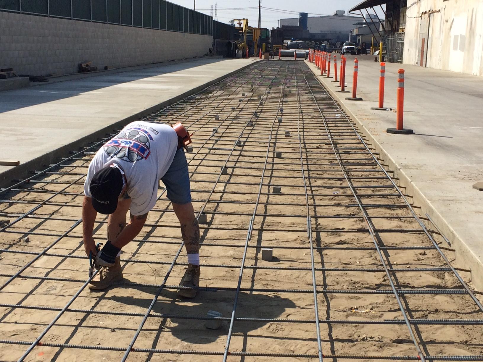 3rd concrete slab prep